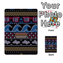 Ugly Summer Ugly Holiday Christmas Black Background Multi-purpose Cards (Rectangle)