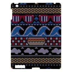 Ugly Summer Ugly Holiday Christmas Black Background Apple iPad 3/4 Hardshell Case
