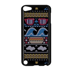 Ugly Summer Ugly Holiday Christmas Black Background Apple iPod Touch 5 Case (Black)