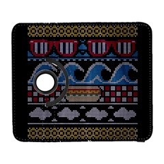 Ugly Summer Ugly Holiday Christmas Black Background Samsung Galaxy S  III Flip 360 Case