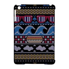Ugly Summer Ugly Holiday Christmas Black Background Apple Ipad Mini Hardshell Case (compatible With Smart Cover)