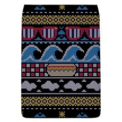 Ugly Summer Ugly Holiday Christmas Black Background Flap Covers (L)