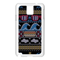 Ugly Summer Ugly Holiday Christmas Black Background Samsung Galaxy Note 3 N9005 Case (white)