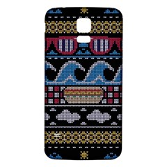 Ugly Summer Ugly Holiday Christmas Black Background Samsung Galaxy S5 Back Case (White)