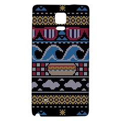 Ugly Summer Ugly Holiday Christmas Black Background Galaxy Note 4 Back Case