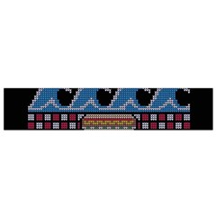 Ugly Summer Ugly Holiday Christmas Black Background Flano Scarf (Small)