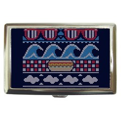 Ugly Summer Ugly Holiday Christmas Blue Background Cigarette Money Cases