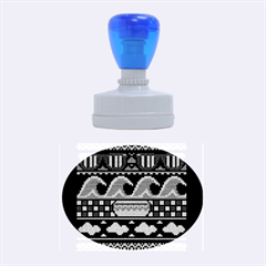 Ugly Summer Ugly Holiday Christmas Blue Background Rubber Oval Stamps