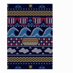 Ugly Summer Ugly Holiday Christmas Blue Background Small Garden Flag (two Sides)