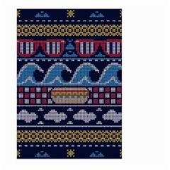 Ugly Summer Ugly Holiday Christmas Blue Background Large Garden Flag (two Sides)