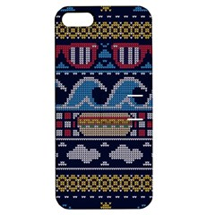 Ugly Summer Ugly Holiday Christmas Blue Background Apple Iphone 5 Hardshell Case With Stand