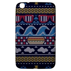 Ugly Summer Ugly Holiday Christmas Blue Background Samsung Galaxy Tab 3 (8 ) T3100 Hardshell Case