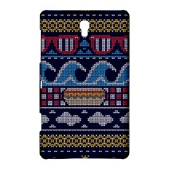 Ugly Summer Ugly Holiday Christmas Blue Background Samsung Galaxy Tab S (8 4 ) Hardshell Case