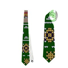 Ugly Summer Ugly Holiday Christmas Green Background Neckties (Two Side)
