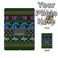 Ugly Summer Ugly Holiday Christmas Green Background Multi Purpose Cards (rectangle)