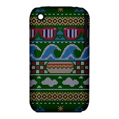 Ugly Summer Ugly Holiday Christmas Green Background Apple Iphone 3g/3gs Hardshell Case (pc+silicone)