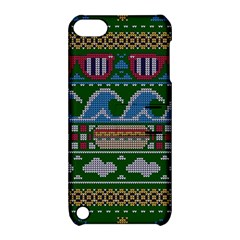 Ugly Summer Ugly Holiday Christmas Green Background Apple Ipod Touch 5 Hardshell Case With Stand