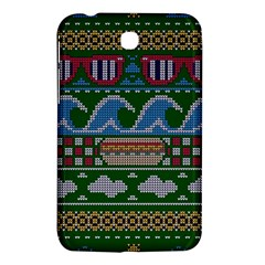 Ugly Summer Ugly Holiday Christmas Green Background Samsung Galaxy Tab 3 (7 ) P3200 Hardshell Case