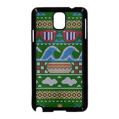 Ugly Summer Ugly Holiday Christmas Green Background Samsung Galaxy Note 3 Neo Hardshell Case (black)