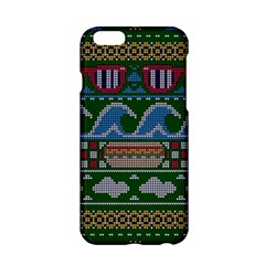 Ugly Summer Ugly Holiday Christmas Green Background Apple Iphone 6/6s Hardshell Case