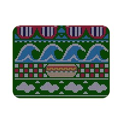 Ugly Summer Ugly Holiday Christmas Green Background Double Sided Flano Blanket (mini)