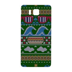 Ugly Summer Ugly Holiday Christmas Green Background Samsung Galaxy Alpha Hardshell Back Case