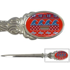 Ugly Summer Ugly Holiday Christmas Red Background Letter Openers