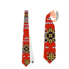 Ugly Summer Ugly Holiday Christmas Red Background Neckties (one Side)