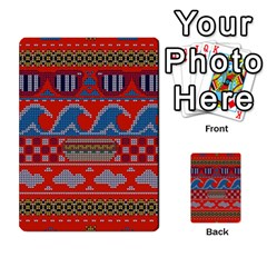 Ugly Summer Ugly Holiday Christmas Red Background Multi Purpose Cards (rectangle)