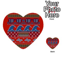 Ugly Summer Ugly Holiday Christmas Red Background Multi Purpose Cards (heart)