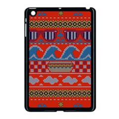 Ugly Summer Ugly Holiday Christmas Red Background Apple Ipad Mini Case (black)