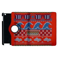 Ugly Summer Ugly Holiday Christmas Red Background Apple Ipad 3/4 Flip 360 Case