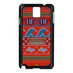 Ugly Summer Ugly Holiday Christmas Red Background Samsung Galaxy Note 3 N9005 Case (black)