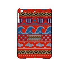 Ugly Summer Ugly Holiday Christmas Red Background Ipad Mini 2 Hardshell Cases