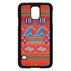 Ugly Summer Ugly Holiday Christmas Red Background Samsung Galaxy S5 Case (black)