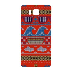 Ugly Summer Ugly Holiday Christmas Red Background Samsung Galaxy Alpha Hardshell Back Case
