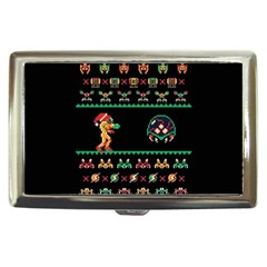 We Wish You A Metroid Christmas Ugly Holiday Christmas Black Background Cigarette Money Cases
