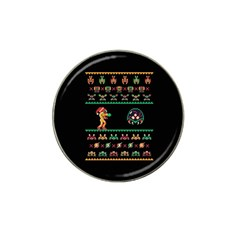 We Wish You A Metroid Christmas Ugly Holiday Christmas Black Background Hat Clip Ball Marker (4 pack)