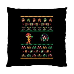 We Wish You A Metroid Christmas Ugly Holiday Christmas Black Background Standard Cushion Case (one Side)