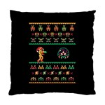 We Wish You A Metroid Christmas Ugly Holiday Christmas Black Background Standard Cushion Case (One Side) Front
