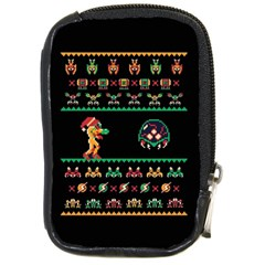 We Wish You A Metroid Christmas Ugly Holiday Christmas Black Background Compact Camera Cases