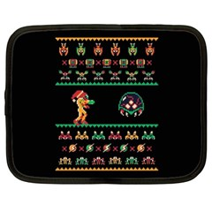 We Wish You A Metroid Christmas Ugly Holiday Christmas Black Background Netbook Case (xl)