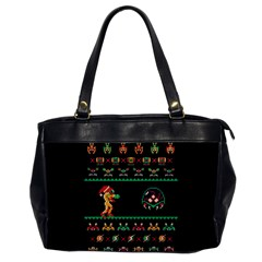 We Wish You A Metroid Christmas Ugly Holiday Christmas Black Background Office Handbags