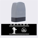We Wish You A Metroid Christmas Ugly Holiday Christmas Black Background Name Stamps 1.4 x0.5  Stamp