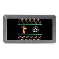 We Wish You A Metroid Christmas Ugly Holiday Christmas Black Background Memory Card Reader (Mini)