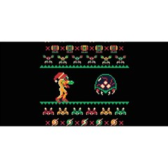We Wish You A Metroid Christmas Ugly Holiday Christmas Black Background YOU ARE INVITED 3D Greeting Card (8x4)