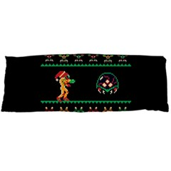 We Wish You A Metroid Christmas Ugly Holiday Christmas Black Background Body Pillow Case Dakimakura (Two Sides)