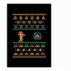 We Wish You A Metroid Christmas Ugly Holiday Christmas Black Background Small Garden Flag (two Sides)
