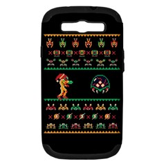 We Wish You A Metroid Christmas Ugly Holiday Christmas Black Background Samsung Galaxy S Iii Hardshell Case (pc+silicone)