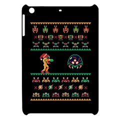 We Wish You A Metroid Christmas Ugly Holiday Christmas Black Background Apple iPad Mini Hardshell Case